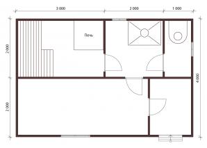 Проект бани 4x6
