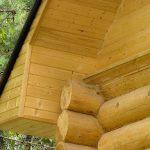 Как подшить крышу у бани из сруба?